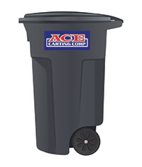 Ace Carting 65-gallon trash cart