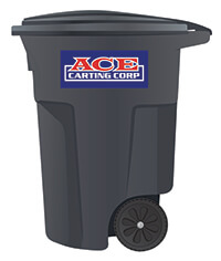 Ace Carting 95-gallon trash cart