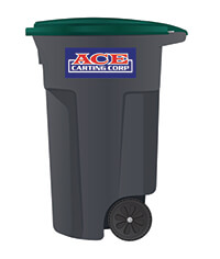 Ace Carting 65-gallon recycling cart