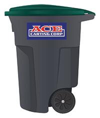 Ace Carting 95-gallon recycling cart